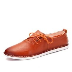 NOVO - Faux Leather Lace Up Casual Shoes