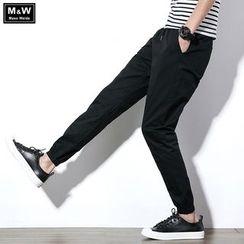 Masowild - Drawstring Jogger Pants