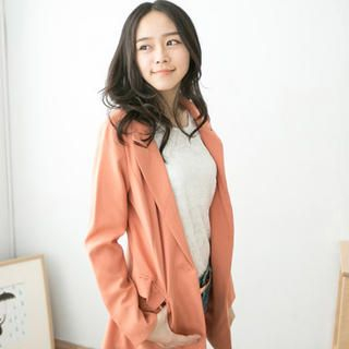 CatWorld - Single-Button Long Blazer