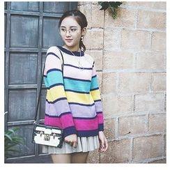 Polaris - Color Block Long Sweater