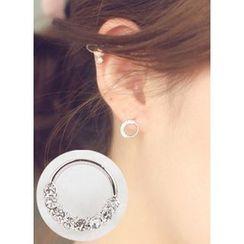 kitsch island - Rhinestone Earrings