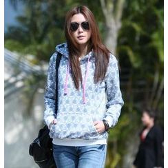 SO Central - Rose Print Hooded Pullover