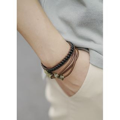 JOGUNSHOP - Layered Faux-Leather Bracelet