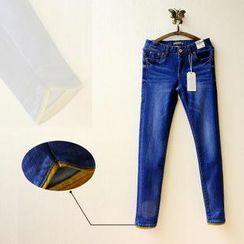 Tulander - 插色水洗牛仔褲