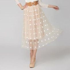 O.SA - Dotted Tulle Skirt