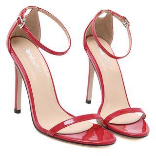Monde - Ankle Strap High Heel Sandals