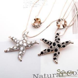 OrangeBear - Rhinestone Starfish Necklace