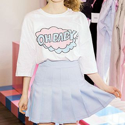 icecream12 - Elbow-Sleeve Print T-Shirt