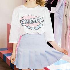 icecream12 - 七分袖印花 T 恤