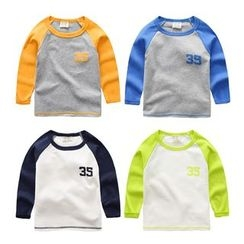 lalalove - Kids Raglan Number Long-Sleeve T-shirt