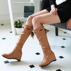 Shoes Galore - Hidden Wedge Tall Boots