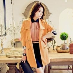 Elegant Queen - Double-Breasted Trench Coat