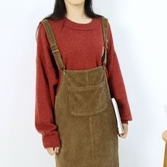 Ranche - Corduroy Pinafore Dress