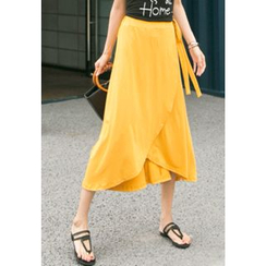 REDOPIN - Wrap-Front Long Skirt