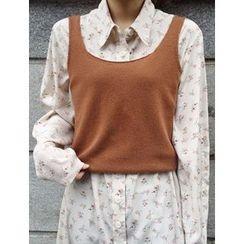 FROMBEGINNING - Wool Blend Knit Vest