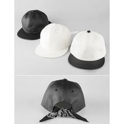 STYLEMAN - Faux-Leather Cap