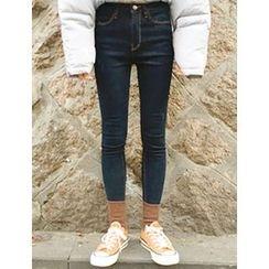 FROMBEGINNING - Fleece-Lined Skinny Jeans
