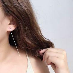 Taimi - Beaded Single Threader Earrings