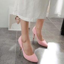 Gizmal Boots - 人造麂皮尖头高跟鞋