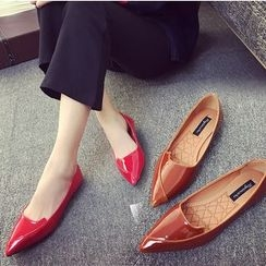 Shoeland - Patent Pointy Flats