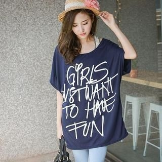 YoungBaby - Dolman-Sleeve Lettering Tunic