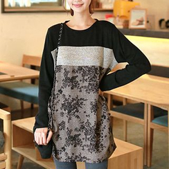 CLICK - Studded Print Long-Sleeved Tunic