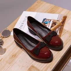 Pangmama - Bow-Accent Loafers