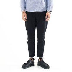 YIDESIMPLE - Patchwork Slim-Fit Pants