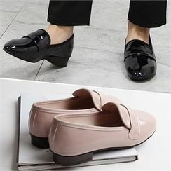Reneve - Almond-Toe Patent Loafers