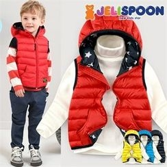 JELISPOON - Kids Hooded Puffer Vest
