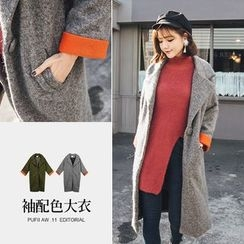 PUFII - Notched Lapel Long Coat