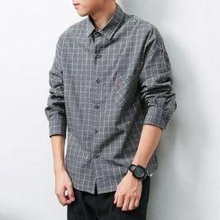 Mrlin - Long-Sleeve Check Shirt