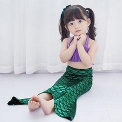 Aqua Wave - Kids Mermaid Bikini Set (4 Pcs) / with Swim Cap + Goggles + Swim Ring