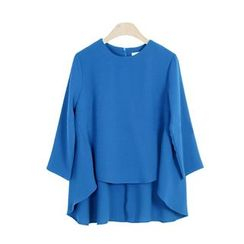 GRACI - 3/4-Sleeve Plain T-Shirt