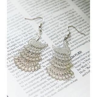 Petit et Belle - Peacock Drop Earrings