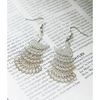 Petit et Belle - Peacock Drop Earrings