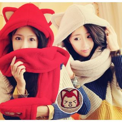 HotBlock - Couple Matching Cat Ear Hooded Scarf