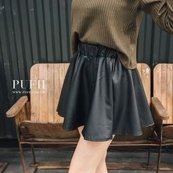 PUFII - Faux-Leather Skirt