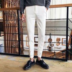 Mitouomo - Plain Slim-Fit Pants