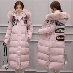 Dream Girl - Furry Hooded Long Padded Coat