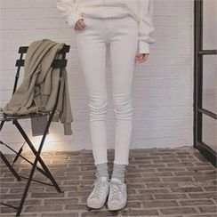 TOM & RABBIT - Fray-Hem Skinny Pants