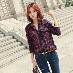 CLICK - Cotton Check Shirt