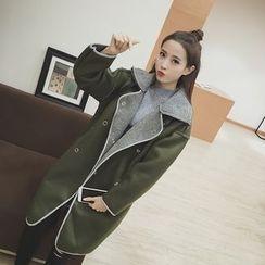 Eva Fashion - Double-breasted Wool Coat