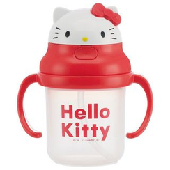Skater - Hello Kitty Plastic Cup with Straw for Kids