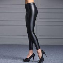 Jusak - Faux Leather Leggings