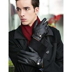 Thantrue - Genuine Lambskin Belted Gloves