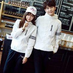 We Belong - Couple Matching Letter Hooded Jacket