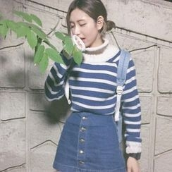 lilygirl - Striped Thick Sweater