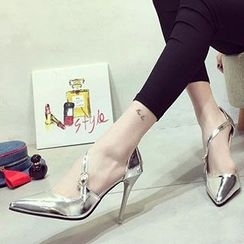 BAYO - Metallic High-heel Pumps
