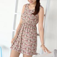 59 Seconds - 花朵印花無袖 A 字形連衣裙